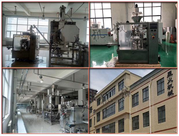 星火公司南瓜果蔬粉包装机及定量果蔬粉包装机生产线实拍