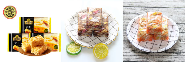星火沙琪玛食品包装机包装样品图