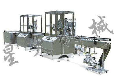 全自动直列式膏体旋盖喷码灌装生产线